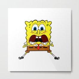 Spongebob Scream Metal Print