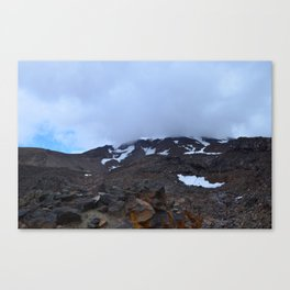 Storm moving over Mount Ruapehu. Canvas Print