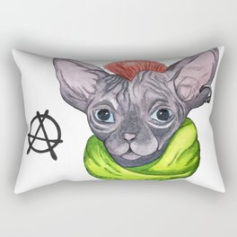 watercolor Cat sphinx and anarchy Rectangular Pillow