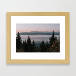 Faraway Mountains - Landscape and Nature Photography Framed Art Print