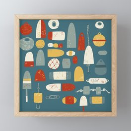 Fishing Floats Framed Mini Art Print