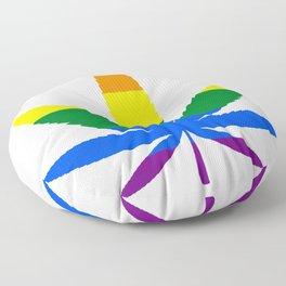 Weed - LGBT Flag Floor Pillow