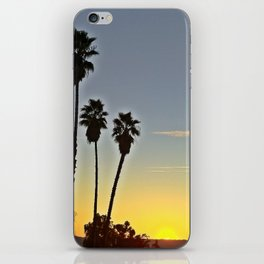 Sunset with Palms iPhone Skin