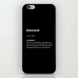 Internest black and white modern typography quote bedroom poster wall art home decor iPhone Skin