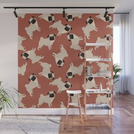 Pug on Terra Wall Mural