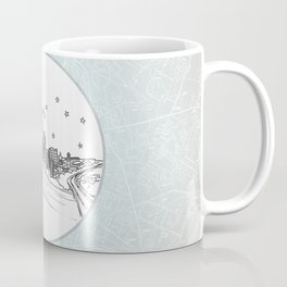 Austin, Texas City Skyline Illustration Drawing Coffee Mug