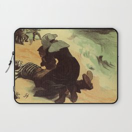 Vintage French drowned sailors charity advertising Laptop Sleeve