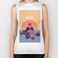rushmore Biker Tanks featuring Max by Virtual Window