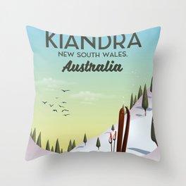 Kiandra, New South Wales, Australia Ski poster Throw Pillow