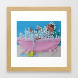 Tubby time Framed Art Print