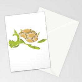 No Stress Funny Turtles Aquamarine Tortoise Reptiles Water Slider Marine Life Animals Gift Stationery Cards