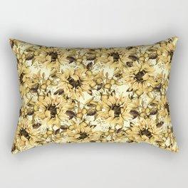 Sunflowers on Yellow Rectangular Pillow