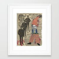 suits Framed Art Prints featuring Suits by Marnie