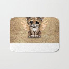 Cute Baby Cheetah Cub with Fairy Wings Bath Mat