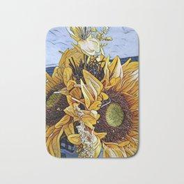 Sun Flower Day, Sun flowers art, sunflower prints, sun flowers tote, sun flowers bag, sun flowers Bath Mat