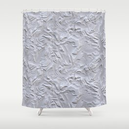 White Rough Plastering Texture Shower Curtain