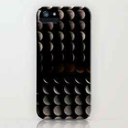 Super Moon, Blood Moon, Total Lunar Eclipse timelapse showing all phases iPhone Case