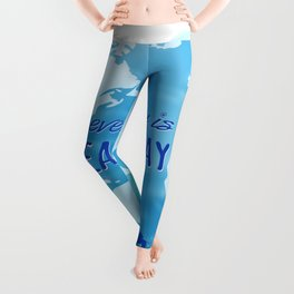 Every Day Is Earth Day - Blue 04 Leggings