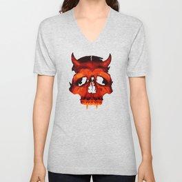 Devil Skull Unisex V-Neck