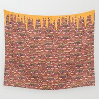 burger Wall Tapestries featuring Burger  by Bartone