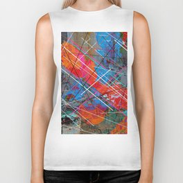 Canvas Abstract Tres Biker Tank