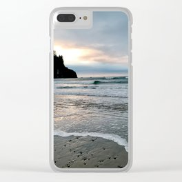 Pacific Ocean Dreaming Clear iPhone Case