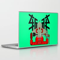 knight Laptop & iPad Skins featuring knight by  Toyoya Li