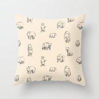 bears Throw Pillows featuring Bears by leah reena goren