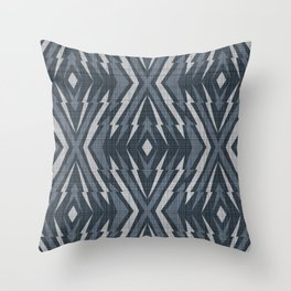 Geometric pattern. Rhombuses and lines #1 Throw Pillow