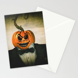 Evil Pumpkin Man Stationery Cards
