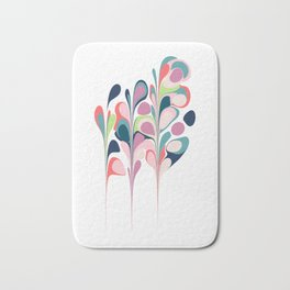 Colorful Abstract Floral Design Bath Mat