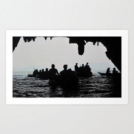 In the deep dark caves Art Print
