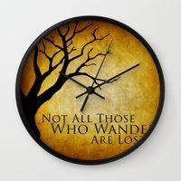 tolkien Wall Clocks featuring Tolkien by Kam Minatrea