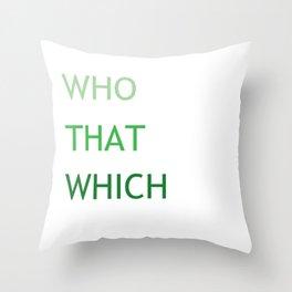 Grammar III Throw Pillow