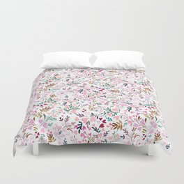 Sweetie Floral Hearts Duvet Cover