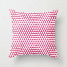 triangles - hot pink and white Throw Pillow