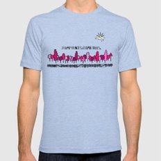 Jump Fences. Climb Trees. - Purple Mens Fitted Tee Tri-Blue LARGE
