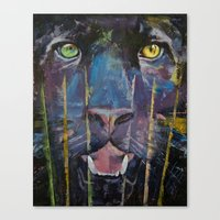 panther Canvas Prints featuring Panther by Michael Creese