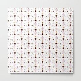 Candy cane pattern 1 Metal Print