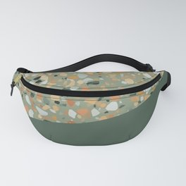 Terrazzo Texture Military Green #4 Fanny Pack