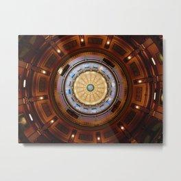 Michigan State Capitol Inner Dome Metal Print