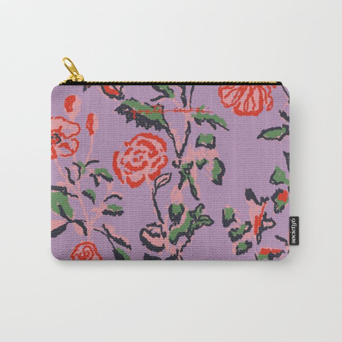 Abstract Florals Carry-All Pouch