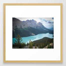 Canada Mountains Framed Art Print