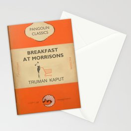 Breakfast at Morrisons - vintage book cover spoof Stationery Cards