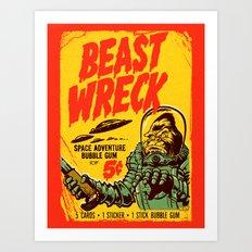 BEASTWRECK ATTACKS! Art Print