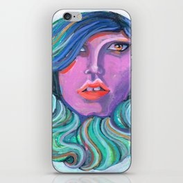 Pretty Oceanic Ombre Face iPhone Skin