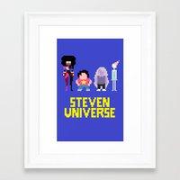 steven universe Framed Art Prints featuring Steven Universe by NeleVdM