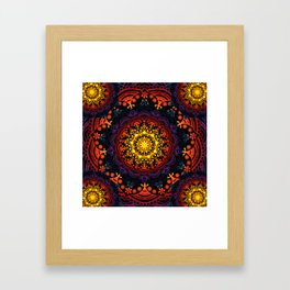 'Bohemian Summer' Multi-Coloured Mandala Framed Art Print