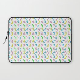 number 1- count,math,arithmetic,calculation,digit,numerical,child,school Laptop Sleeve