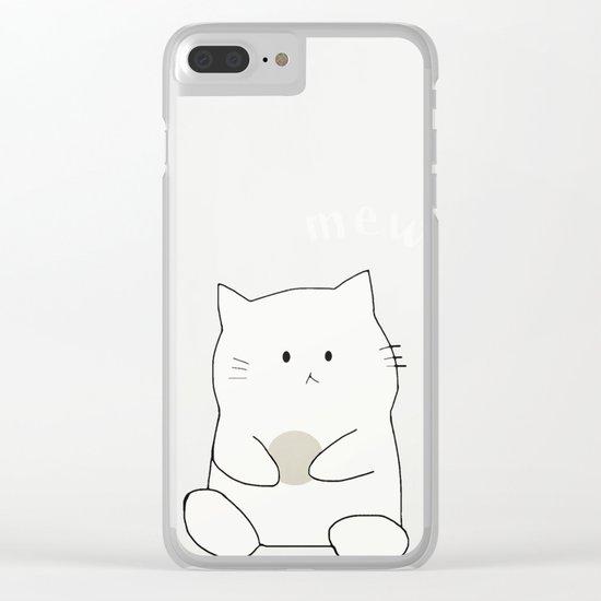 cat-361 Clear iPhone Case